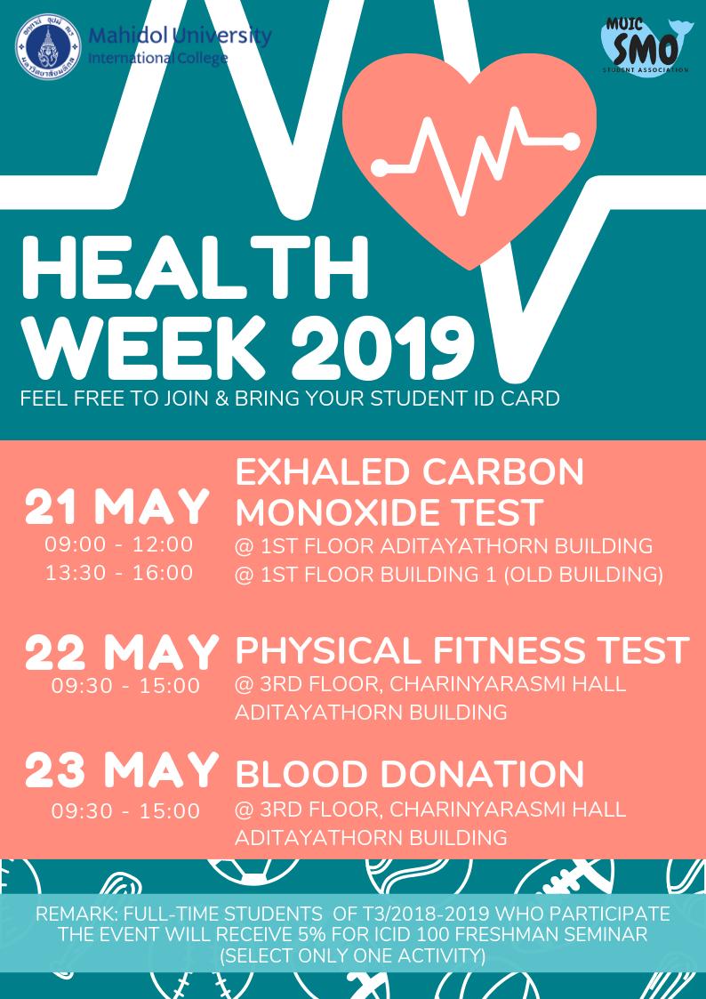 MUIC Health Week 2019