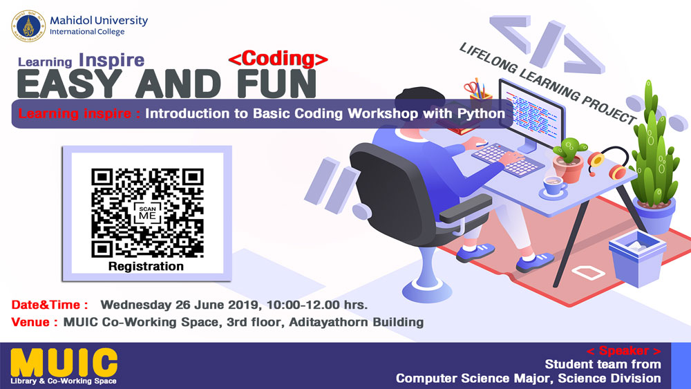 Learning Inspire: Introduction to Basic Coding Workshop with Python