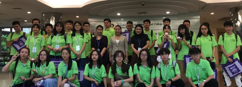 MUIC Welcomes High School Students from China