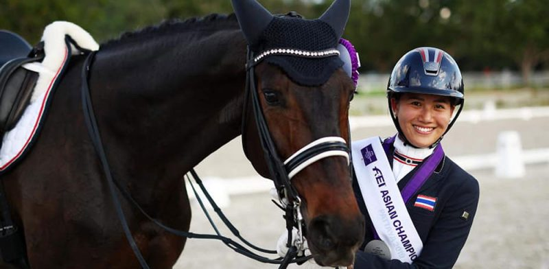 MUIC Alumna Wins Gold and Silver Medals in Equestrian Competition