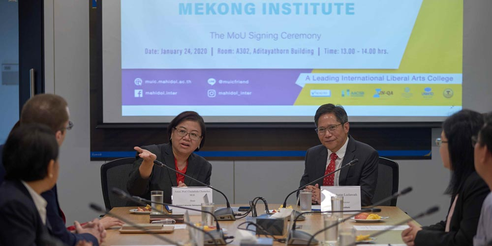 MUIC Signs MOU with Mekong Institute