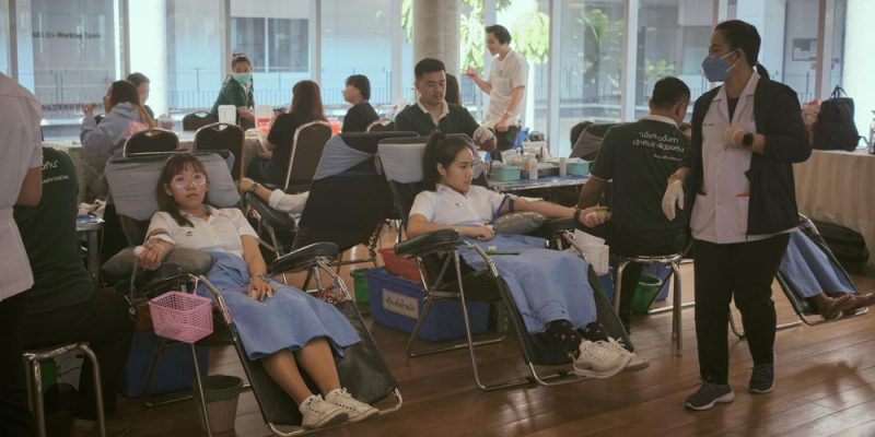 MUIC Community Donates Blood