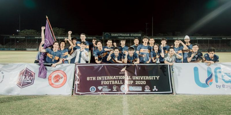 MUIC's Kickers Win 2nd Place in International Football Cup