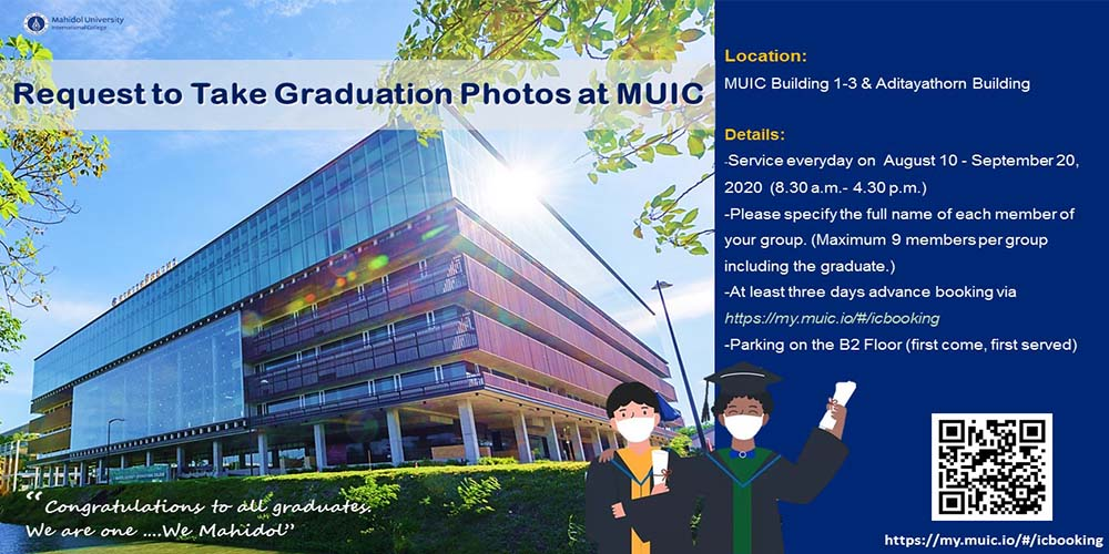 Request to Take Graduation Photos at MUIC