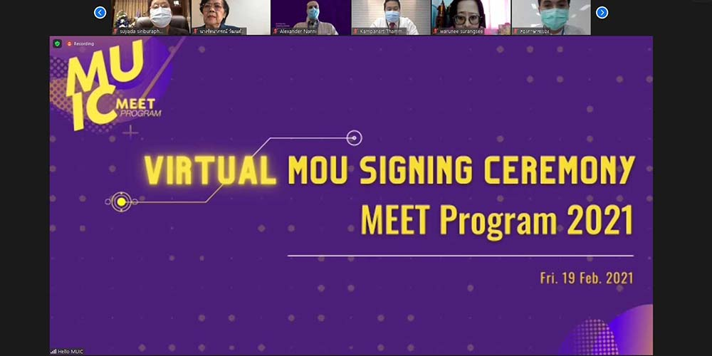 MUIC Signs MOU with 30 Thai High Schools