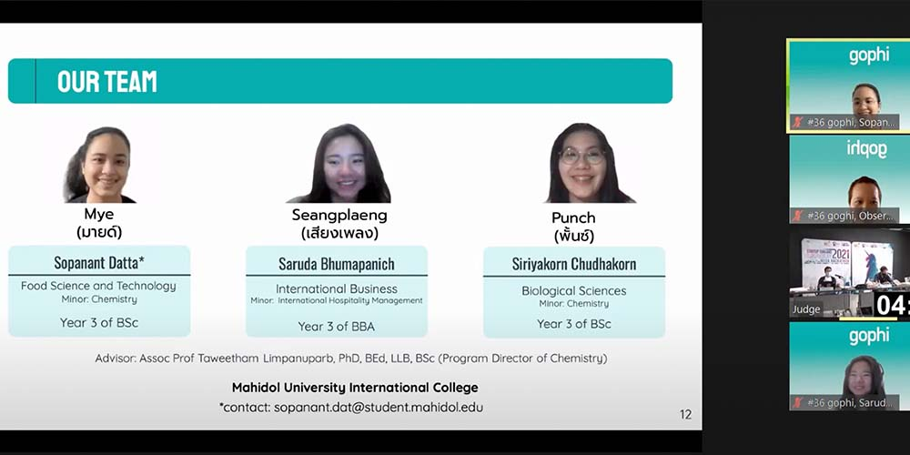 MUIC Students Win Regional Award in Startup Thailand League 2021