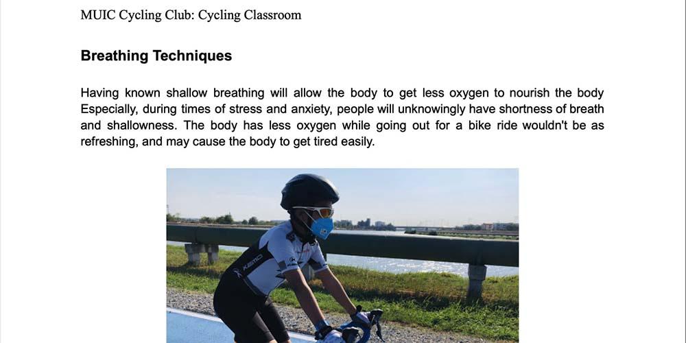 """Cycling Classroom"""