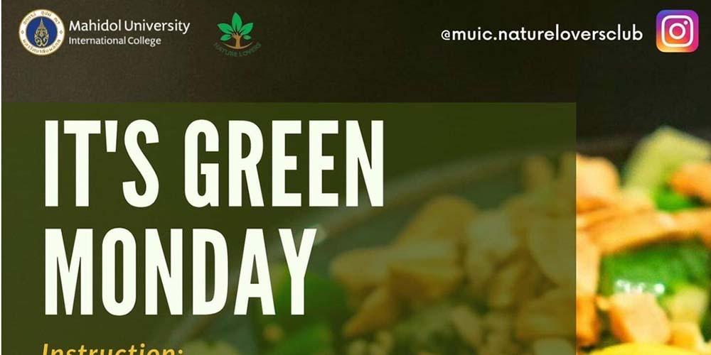 It's Green Monday
